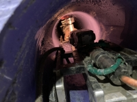 オメガライナー工法での下水管きょ更生工事を行いました!